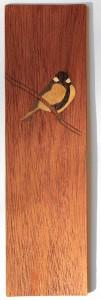 Puinen kirjanmerkki Intarsia 2014