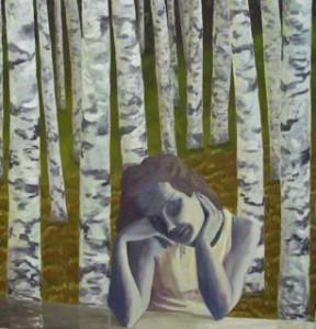 """""""Koivikko"""" Öljymaalaus  150 x 135 cm 2012"""
