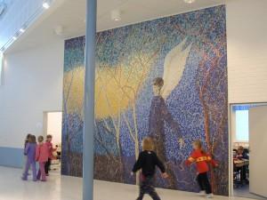 """Siivet"" Mosaiikki  552 x 450 cm 2002"