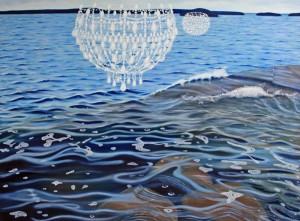 """""""Saattaja"""" 140 x 190 cm  Öljyväri  2011"""